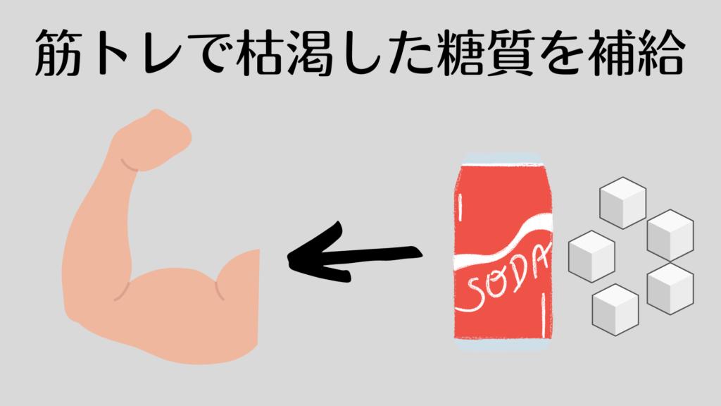 筋トレで消費された糖分を摂取できる