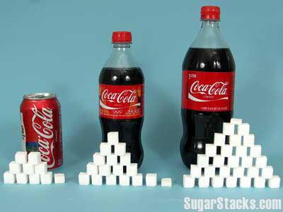 コーラに含まれる角砂糖の量
